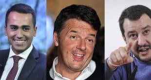 Tre libri per tre leader politici italiani: Luigi Di Maio, Matteo Salvini e Matteo Renzi